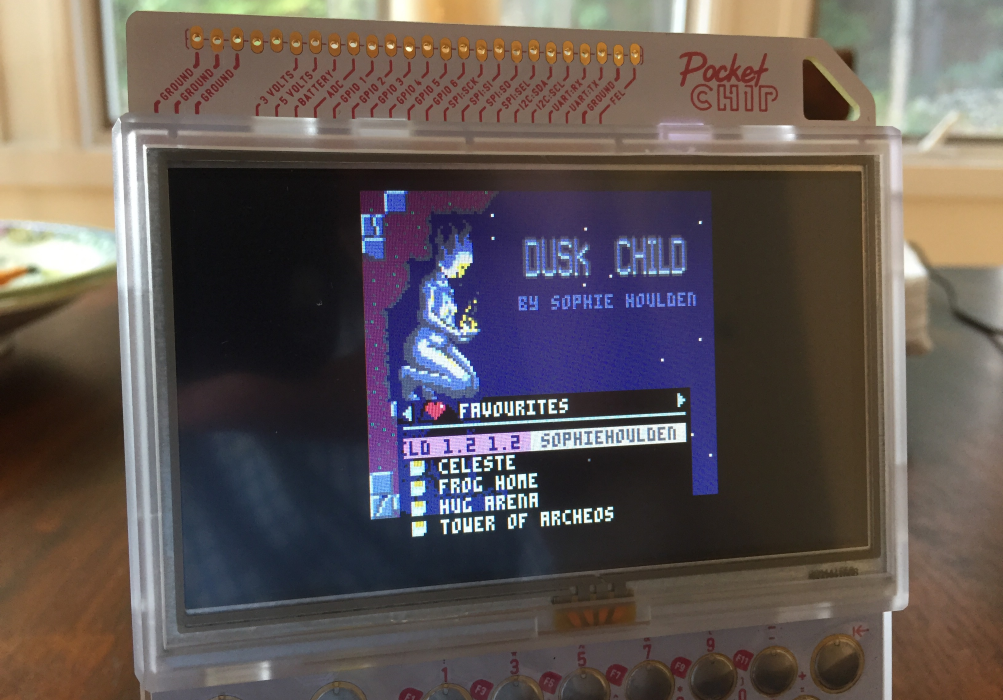 The PICO-8 launcher displayed on the Pocket CHIP